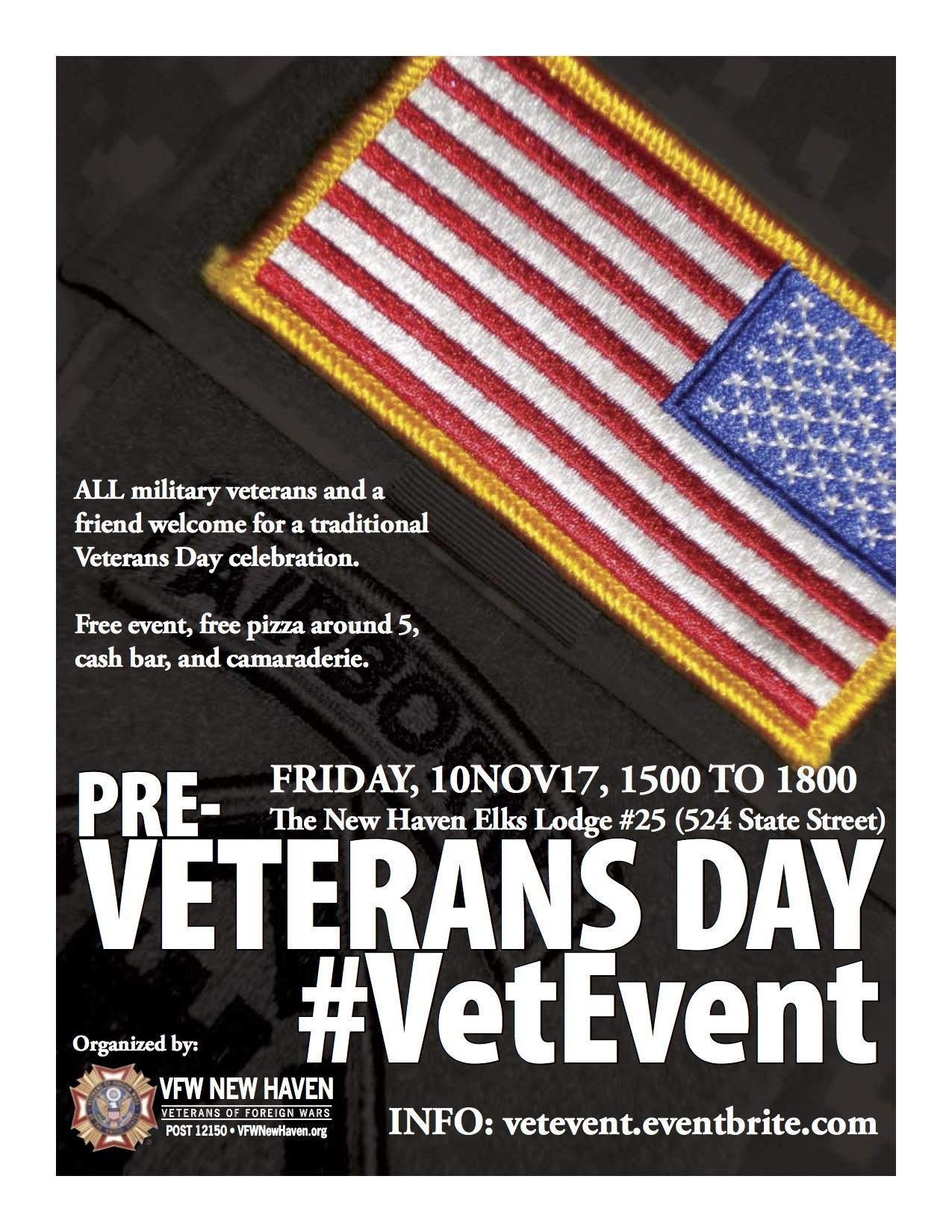 2017 Pre-Veterans Day #VetEvent