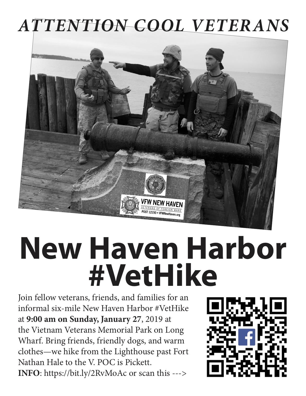 New Haven Harbor #VetHike
