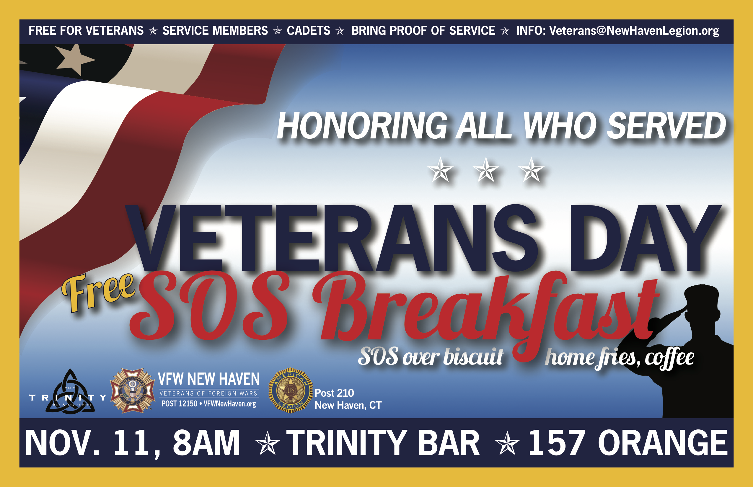2019 Veterans Day FREE SOS Breakfast