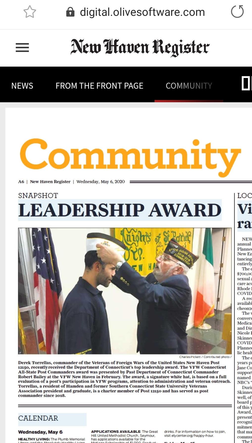 VFW Torrellas Award
