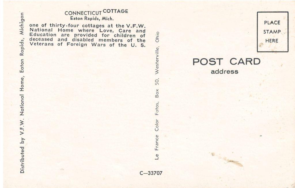 Connecticut Cottage Postcard